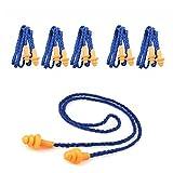 Tankerstreet auricolari su corde tappi per le orecchie per dormire sonno russare riutilizzabile High Noise Quies schiuma in silicone, tappi per orecchie antirumore russare sonno per bambini, adulti, riutilizzabile, tappi per orecchie sonno in silicone (blu) Blue