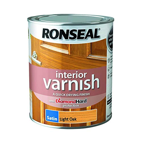 Ronseal Interior Varnish Light Oak Satin 750ml
