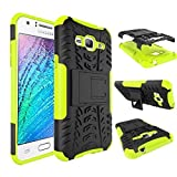 Dooki, Galaxy J3 (2015/2016) Case, Durable [Kickstand] [High Impact] [Heavy Duty] [Shockproof] [Drop Resistance] [Hybrid 2 In 1] Hard Silicone Rubber [Dual Layer Shield] Protective Cover Case For Samsung Galaxy J3 (2015/2016) (G-1)