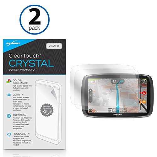 Boxwave Cleartouch Screen Protector (Tomtom GO 600ClearTouch AntiGlare (2er Pack) und ClearTouch Crystal-Premium QUALITÄT Displayschutzfolie, vor Kratzern zu schützen-wählen Sie, blendfrei, oder Crystal Clear Crystal Clear)