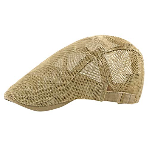 erren SchiebermüTze Gatsby SchirmmüTze Newsboy Flat BaskenmüTze 1920 Stil KostüM Accessoires Einstellbar Sommer Kappe Hut Flatcap(Khaki) ()