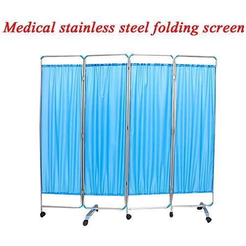SUN RDPP 4 Panel Shutter Folding Medical Sichtschutzvorhang, Blau