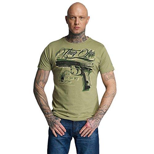 Thug Life T-shirt (Thug Life Herren Oberteile/T-Shirt No Reason Olive XL)