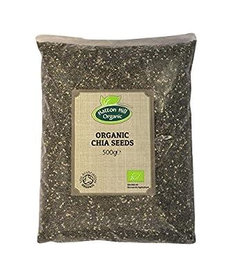 Organic Black Chia Seeds 500g by Hatton Hill Organic - Certified Organic