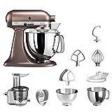 KitchenAid Küchenmaschine | VORTEILS SET | Artisan 5KSM175PS Entsafter Paket | inklusive Entsaftervorsatz, Zitronenpresse und Standardzubehör (Macadamia)