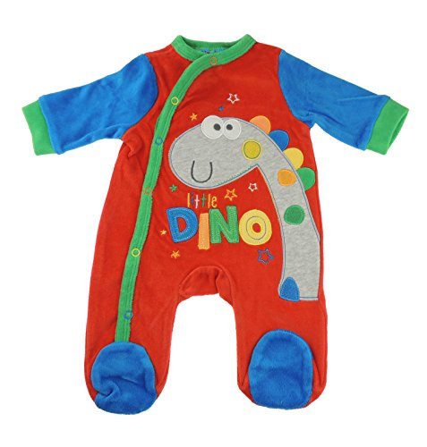 Bebé Niñas Rojo Little Dino Dinosaur pijama todo en uno para niño Rojo rosso