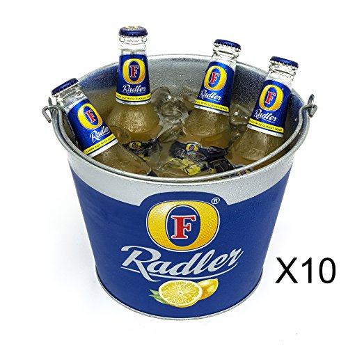 10-fosters-radler-beer-lager-ice-bucket-metal-branded-official-party-new-genuine-8-bottle-handle-car