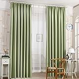 Tongshi 210x100cm sombreado floral de la gasa de la cortina de puerta divisor de la cortina de ventana de habitaciones (Verde)