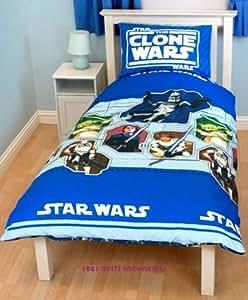 Parure housse de couette Linge de lit Star Wars Clone Mission