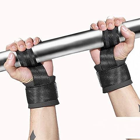 Lot de 1Poids de levage strps poignet pour Basket-ball Badminton poignet Coude de compression à manches pour les Tendinites, Tennis Elbow, coude et Golf Elbow, Randonnée/Camping/Traitement des blessures, noir