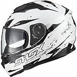 Shox Assault Trigger Motorrad Roller Helm M Weiß/Schwarz