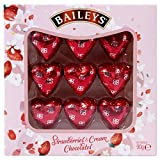 Mothers Day Gift Box of Baileys Strawberry and Cream Hearts - Perfect for Anniversary 90g