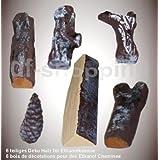 6 piezas de troncos de madera