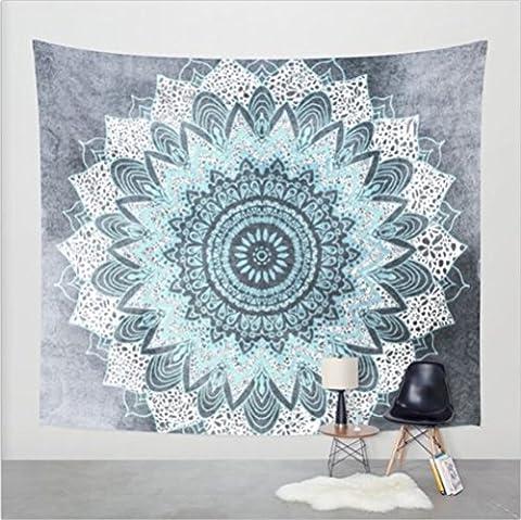 Boho Psychedelic Elephant Tree of Life Floral Tapestry Hippy Mandala