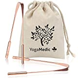 YogaMedic Tongue Scraper [2X] 100% Copper, Naturally Anti-Microbial to Fight Bad Breath - Includes a Cotton Bag