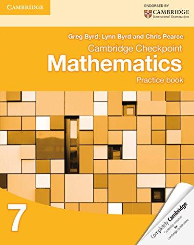 Cambridge Checkpoint Mathematics. Practice Book Stage 7