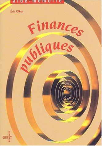 Finances publiques par Eric Oliva