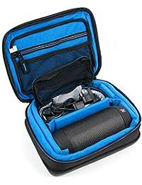DURAGADGET Bolsa acolchada profesional negra con compartimentos para altavoz portátil JBL Pulse 1 , 2 , 3