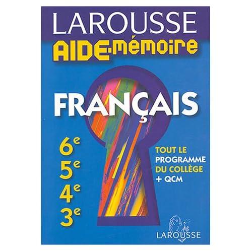 Français : 6e, 5e, 4e, 3e