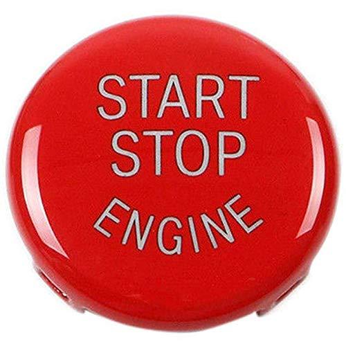 WOVELOT Bouton De Démarrage Bouton D'Arrêt Bouton du Moteur Couvercle du Commutateur D'Allumage Remplacement pour BMW X1 X3 X5 X6 Z4 Série 1 3 5 (E87, E90 / E91 / E92 / E93, E60) (Rouge)