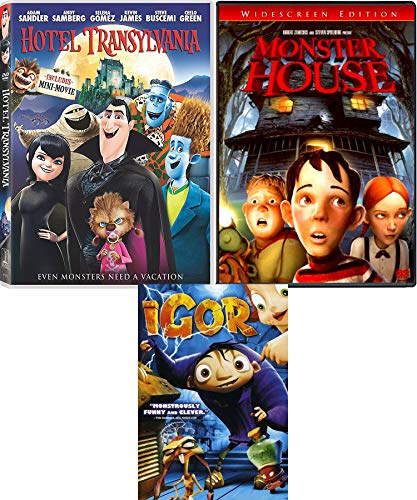 Monstrous Night Animated Monster House + Hotel Transylvania & Igor Movie Halloween Triple Feature Creepy family fun