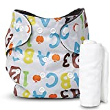 Motherly Washable Baby Cloth Diaper Cover Waterproof Cartoon Nappy (Pattern-D55)