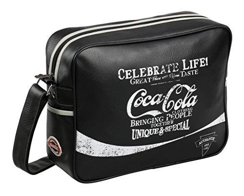 Coca Cola College Sac Bandoulière, 41 cm, Noir