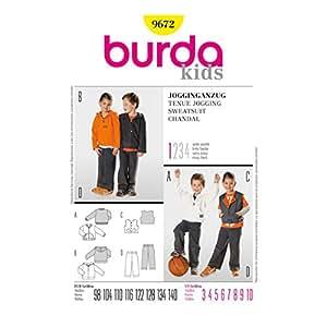 Burda B9672 Patron de Couture Tenue Jogging 19 x 13 cm