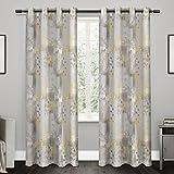 Exclusive Home tende EH8019–012–84g patchwork stampa floreale 100PERCENT occhielli finestra tenda a pannello, prendisole in cotone, 54x 213,4cm, set di 2