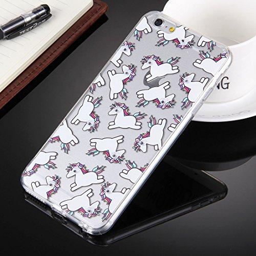 Phone case & Hülle Für iPhone 6 Plus / 6s Plus, Pferd mit schwarzen Augen Muster transparent weichen TPU Schutzhülle Fall ( SKU : IP6P0237A ) IP6P0237A