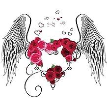 Glamour Girlz - Adhesivo Decorativo para Pared, diseño de alas de ángel con corazón de