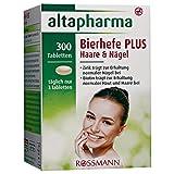 altapharma Bierhefe-Tabletten PLUS Haare & Nägel Nahrungsergänzungsmittel 180 g 300 Tabletten Zink trägt zur Erhaltung normaler Nägel bei, Biotin trägt zur Aufrechterhaltung normaler Haut & Haare bei Nahrungsergänzungsmittel