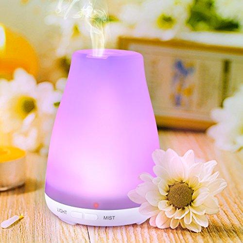 Aroma Diffuser, Mini VicTsing Ultraschall Luftbefeuchter Raumbefeuchter BPA-Free Aromatherapie Öle Humidifier Diffusor LED mit 7 Farben für Yoga Salon Spa Wohn-, Schlaf-, Bade- oder Kinderzimmer