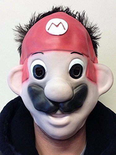 Kids MARIO BROS Klempner-Mate Movie Game Faschings Maske (Mario Bros Maske)