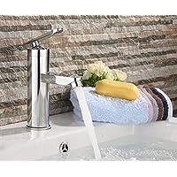 UHM acciaio inossidabile diffusa in ottone bagno Lavandini rubinetto miscelatore finitura cromata