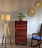 #7: Shilpi Wooden Handmade Storage Chest Drawer Furniture with 5 Biggest Size Drawers in Brown Finishing