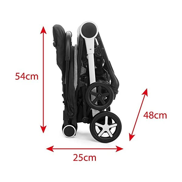Chicco Minimo Stroller With Bumper Bar - Black Knight Chicco - BabySecurity Suitable from birth to 15kg Lightweight- only 5.8kg! One hand folding system 5
