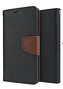 SCHOFIC Premium Fancy Wallet Diary Faux Leather Mobile Flip Case Cover [Pouch] with Card Slots [POCKETS] , Stand View and Magnetic Strap [LOCKING] for Sony Xperia C3 -Brown