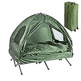 SoBuy OGS32-L-GR Feldbett 4in1-Zelt mit Campingliege