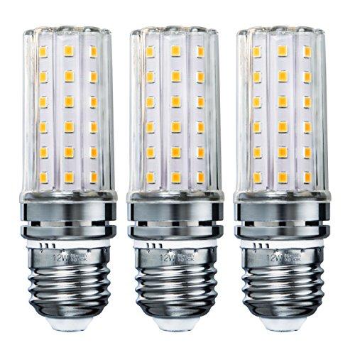 Sagel E27 LED Mais Birne, 12W LED Kerzenleuchter Glühbirnen 100 Watt Äquivalent, 1200lm, Warm Weiß 3000K LED Kronleuchter Lampen, Sockel E27, Nicht Dimmbare LED Lampe, 3er Pack