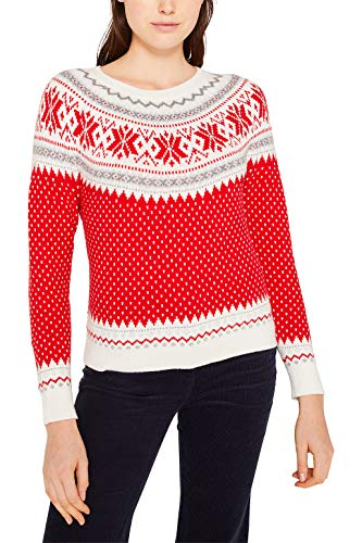 edc by ESPRIT Mit Wolle: X-Mas Norweger-Pullover