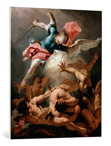 kunst für alle Leinwandbild: Sebastiano Ricci The Fall of The Rebel Angels - hochwertiger Druck, Leinwand auf Keilrahmen, Bild fertig zum Aufhängen, 75x90 cm Ricci Kunst