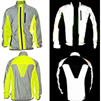 BTR Hi Vis Reflective Jacket Ideal For Cycling, Running, Jogging, Riding. Fits Men & Women. High Visibility (Hi Viz) & VERY Reflective Outdoor Sports Jacket