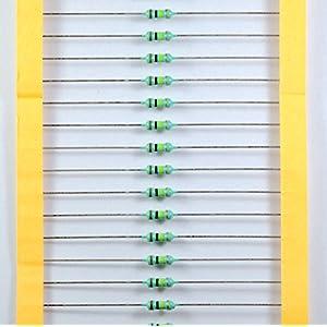 Electrobot 100K-100Pc1/4 100K OHM Carbon Film Resistors 25 Watt tolerance 5%, 100 Pieces
