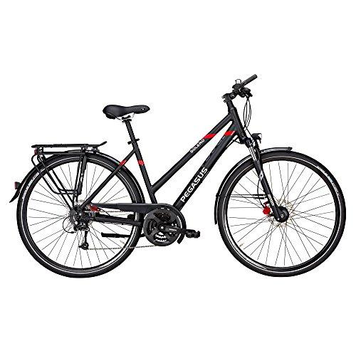 Pegasus Solero SL Disc Trapez Damen 24 Gang Trekking Fahrrad 2017, Farbe:Schwarz, Rahmenhöhe:58 cm
