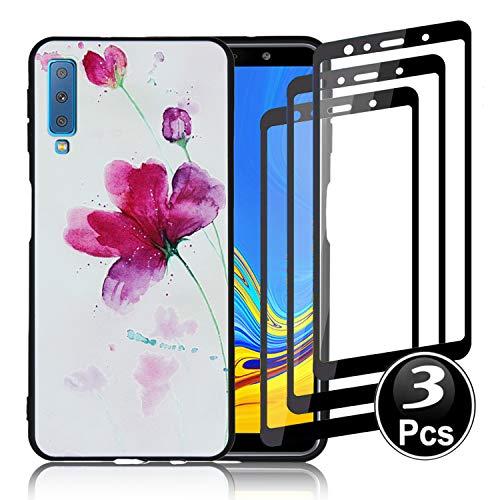 4b9470151d0 KISCO Funda y Protector de Pantalla para Samsung Galaxy A7  (2018),[Resistente
