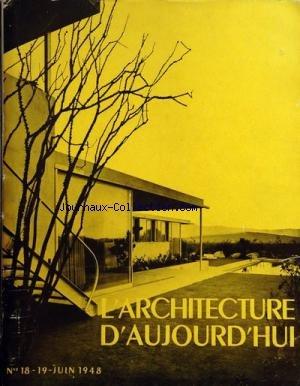 ARCHITECTURE D'AUJOURD'HUI (L') du 01-06-1948 habitations individuelles - etats-unis , argentine , grande-bretagne, bresil, suisse, italie, hollande, danemark et franc