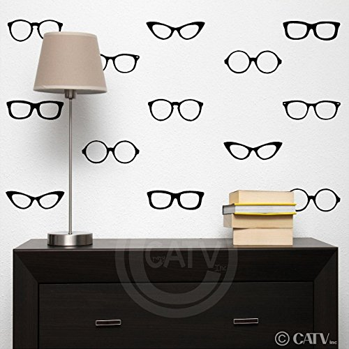 reading-nerd-glasses-vinyl-lettering-wall-decal-stickers-set-of-30-black