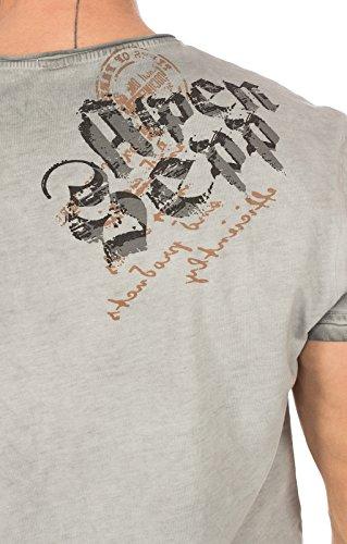 Hangowear Trachtenshirt Beppi Austria Grau, XL - 3