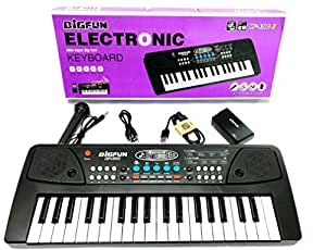 TriEcoWorld PREMIUM QUALITY Musical Keyboard Education Toy 37 Keys Multifunctional Children's Musical Digital Music Electronic Electric Karaoke Keyboard Piano Organ with Microphone